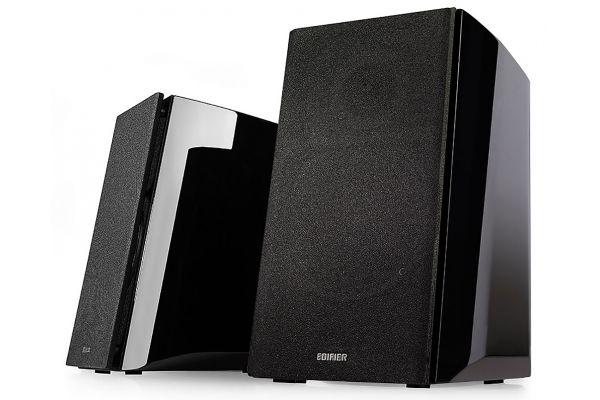 Large image of Edifier Black Powered Bluetooth Bookshelf Speakers (Pair) - R2000DB