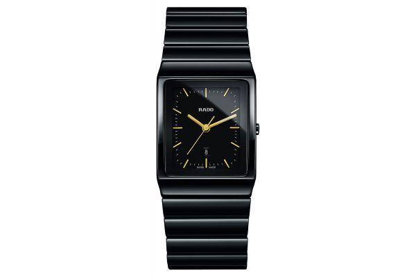 Large image of Rado Ceramica Quartz Black Unisex Watch - R21700182