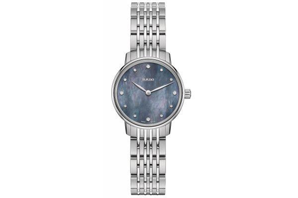 Large image of Rado Coupole Classic Diamond Stainless Steel Quartz Womens Watch - R22897903