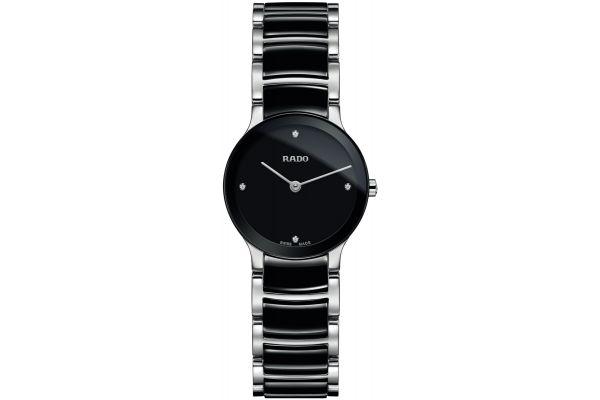 Rado Centrix Diamonds XS Quartz Black Womens Watch - R30191712