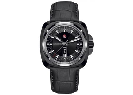 Rado HyperChrome 1616 Black Leather Mens Watch  - R32171155