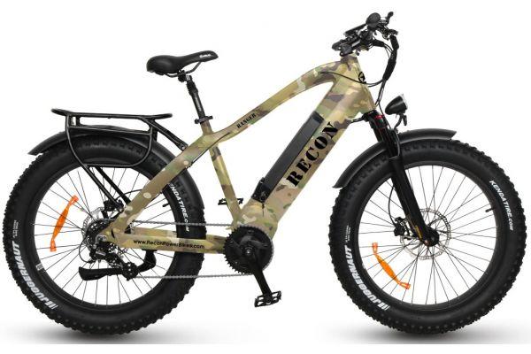 Large image of Recon Flat Kryptek Camo Ranger Power Electric Bike - RANGERCAMO