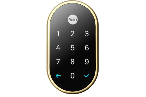 Large image of Google Nest x Yale Lock Polished Brass With Google Nest Connect - RB-YRD540-WV-605