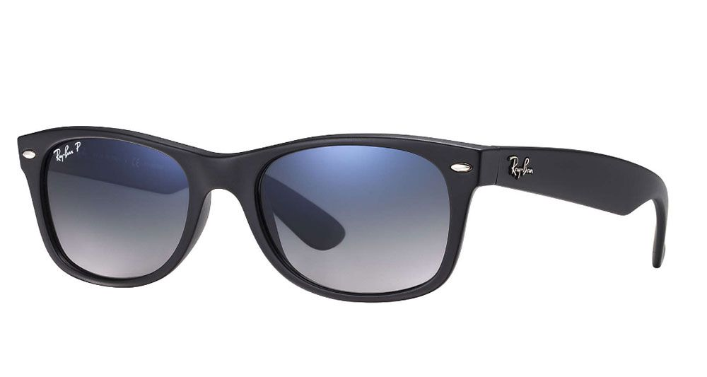 cea192cb2f Ray-Ban Wayfarer Black Polarized Sunglasses - RB2132 601S78 55