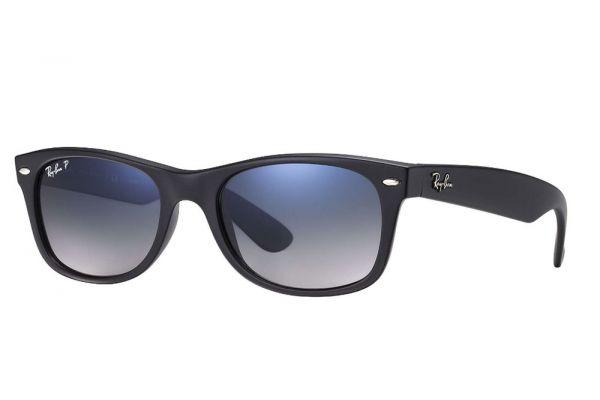 Large image of Ray-Ban Wayfarer Black Polarized Sunglasses - RB2132 601S78 55