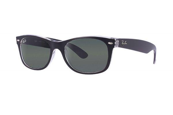 Large image of Ray-Ban New Wayfarer Transparent Green Classic G-15 Unisex Sunglasses - RB21326052