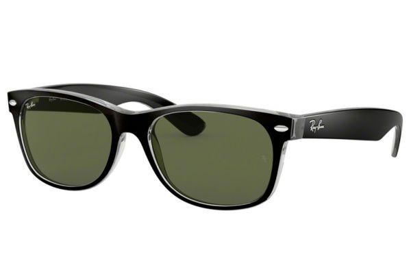 Large image of Ray-Ban Wayfarer Top Black On Transparent Unisex Sunglasses - RB2132605255