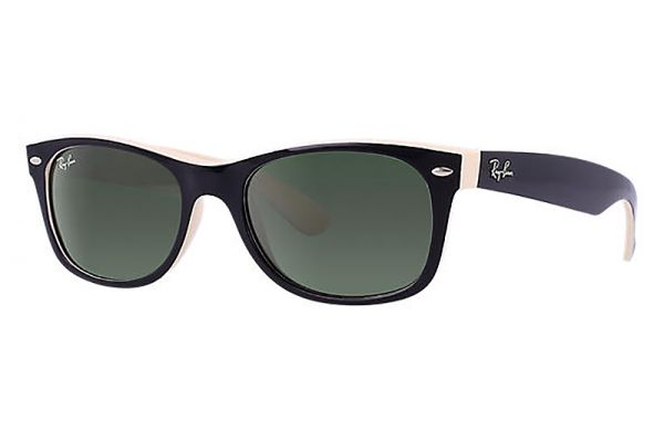 Large image of Ray-Ban New Wayfarer Green Classic G-15 Unisex Sunglasses - RB2132605258
