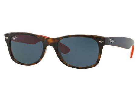 Ray-Ban New Wayfarer Matte Havana Unisex Sunglasses - RB2132 6180R5 52