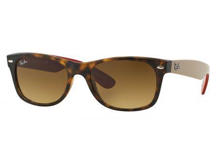 Ray-Ban New Wayfarer Classic Matte Havana Sunglasses - RB2132 618185 52