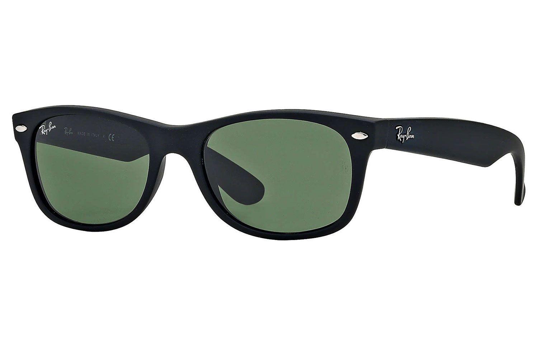 Ray Ban Wayfarer Black Rubber Sunglasses Rb2132 622 55