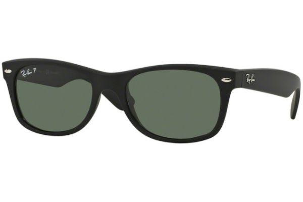 Ray-Ban New Wayfarer Classic Rubber Black Unisex Sunglasses - RB2132 622 58-18