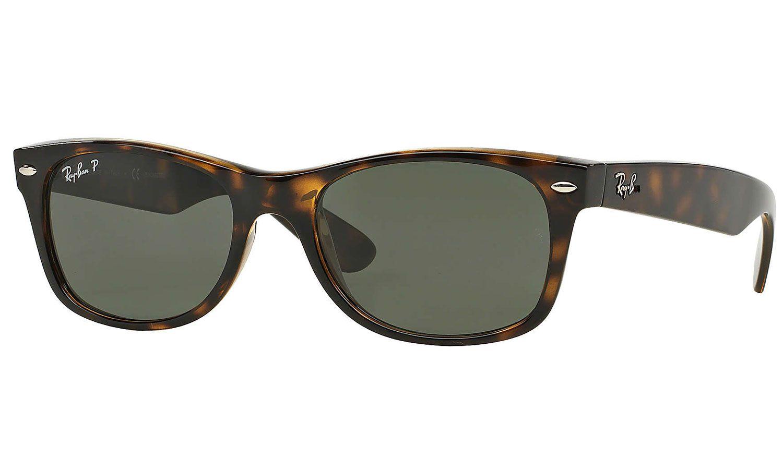 2271d4a736 Ray-Ban Polarized New Wayfarer Classic Tortoise Unisex Sunglasses - RB2132  902 58 52-18