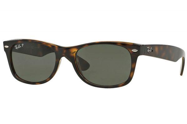 Large image of Ray-Ban Polarized New Wayfarer Classic Tortoise Unisex Sunglasses - RB2132 902/58 52-18