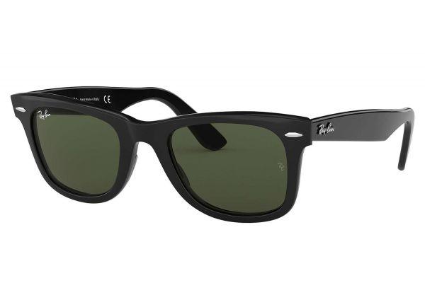 Large image of Ray-Ban Original Wayfarer Black Unisex Sunglasses - RB2140 901 50-22