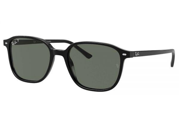 Large image of Ray-Ban Square Leonard Polarized Green Classic G-15 Sunglasses - RB21939015851
