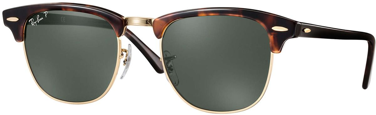 Ray-Ban Clubmaster Classic Tortoise Unisex Sunglasses - RB3016 990 58 49-21 d0ec149812