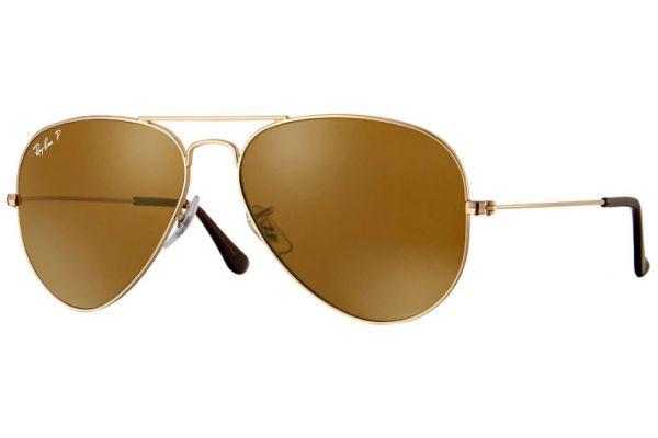 Large image of Ray-Ban Aviator Classic Polarized Unisex Sunglasses - RB30250015758