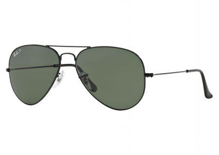 Ray-Ban Black Polarized Classic Aviator Sunglasses - RB30250025862