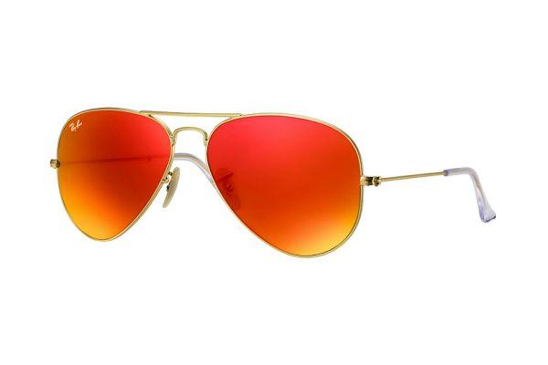 Large image of Ray-Ban Aviator Gold Unisex Sunglasses - RB30251126958