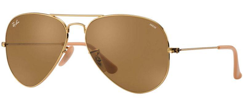 35e97d4ad59cf Ray-Ban Aviator Evolve Brown Photocromic Unisex Sunglasses - RB3025 90644I  58-14