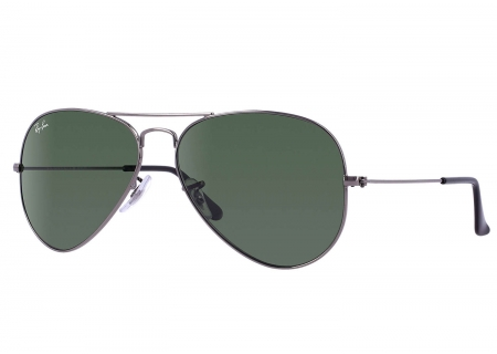 Ray-Ban Aviator Gunmetal Unisex Sunglasses - RB3025 W0879