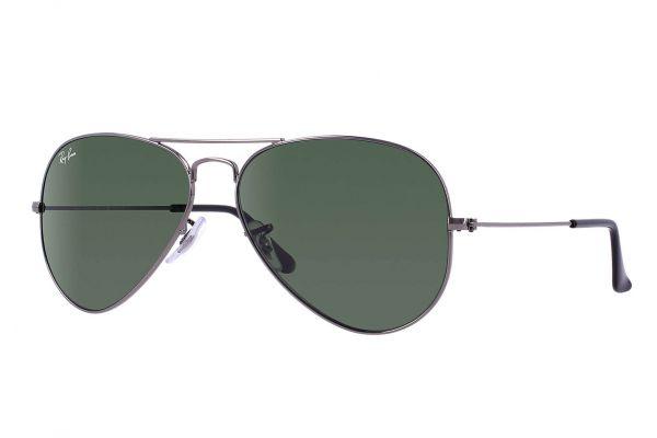 Large image of Ray-Ban Aviator Gunmetal Unisex Sunglasses - RB3025W0879