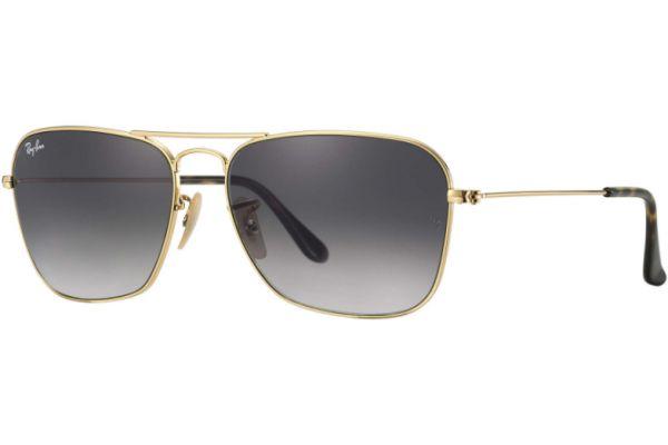 Large image of Ray-Ban Caravan Grey Gradient Unisex Sunglasses - RB3136 181/71 58-15