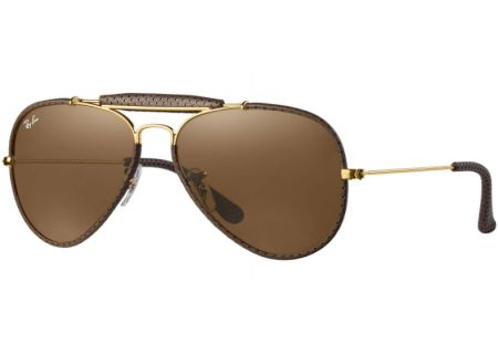 Ray-Ban Outdoorsman Craft Brown Unisex Sunglasses - RB3422Q 9041 58-14