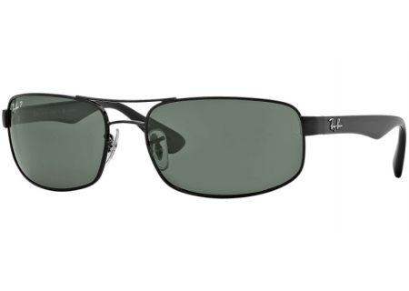 Ray-Ban Polarized Rectangle Unisex Sunglasses - RB3445 002/58 61