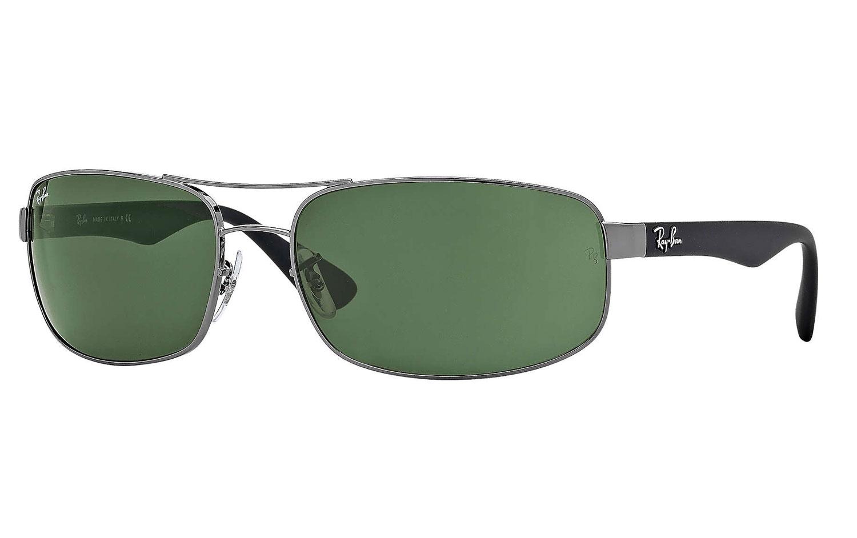 Ray-Ban Gunmetal Rectangle Unisex Sunglasses- - RB344500461 570c70b0a9e4