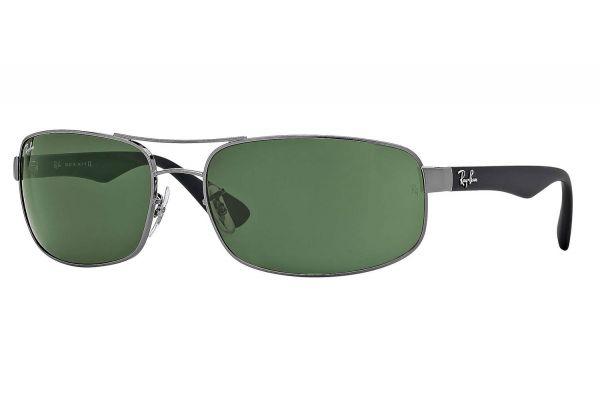 Ray-Ban Gunmetal Rectangle Unisex Sunglasses- - RB344500461