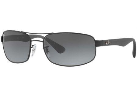 Ray-Ban Black Rectangle Unisex Sunglasses - RB3445 006/11 61-17
