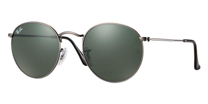 941cd5c9753 Ray-Ban Round Gunmetal 50mm Unisex Sunglasses - RB3447 029 50