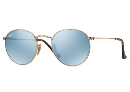 Ray-Ban Round Flat Lenses Silver Flash 50mm Unisex Sunglasses - RB3447N 001/30 50
