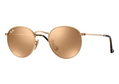 Ray-Ban Round Metal Gold Framed Unisex Sunglasses - RB3447N 001/Z2 50