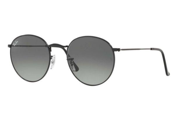 Large image of Ray-Ban Round Flat Lenses Black 53mm Unisex Sunglasses - RB3447N 002/71 53