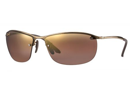 Ray-Ban Polarized Purple Mirror Chromance Mens Sunglasses - RB3542 197/6B 63