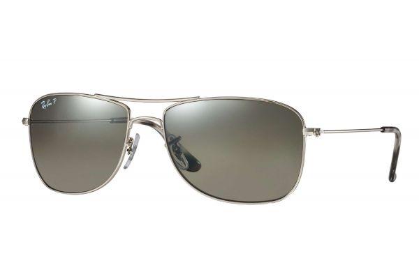 Ray-Ban Polarized Silver Mirror Chromance Mens Sunglasses - RB3543 003/5J 59