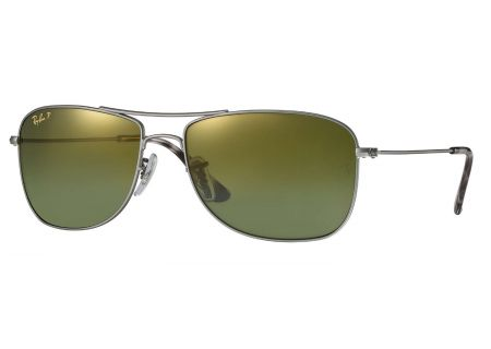Ray-Ban Polarized Green Mirror Chromance Mens Sunglasses - RB3543 029/6O 59