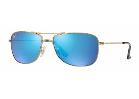 Ray-Ban Polarized Blue Mirror Chromance Mens Sunglasses - RB3543 112/A1 59