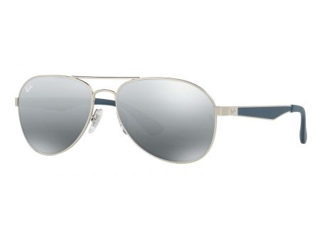 Ray-Ban Aviator Grey Gradient Mirror Mens Sunglasses - RB3549 901288 58