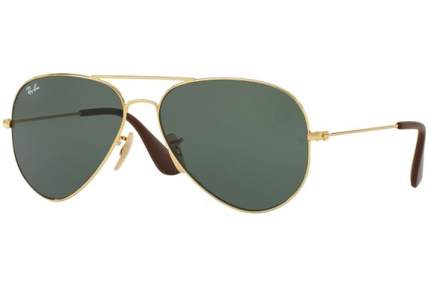 Ray-Ban Aviator Green Classic Unisex Sunglasses - RB3558 001/71 58-14