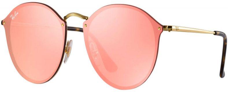 a6af96e34374b Ray-Ban Blaze Round Pink Mirror Womens Sunglasses - RB3574N 001 E4 59