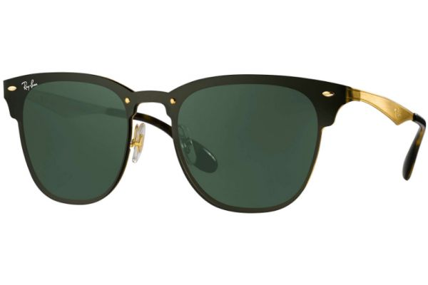 Large image of Ray-Ban Blaze Clubmaster Green Classic Unisex Sunglasses - RB3576N 043/71 47-147