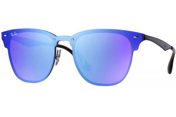 Large image of Ray-Ban Blaze Clubmaster Violet Blue Gradient Unisex Sunglasses - RB3576N 153/7V 47-147
