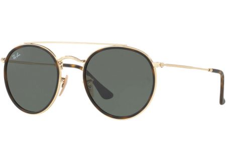 Ray-Ban Round Double Bridge Classic Green G-15 Unisex Sunglasses - RB3647N 001 51