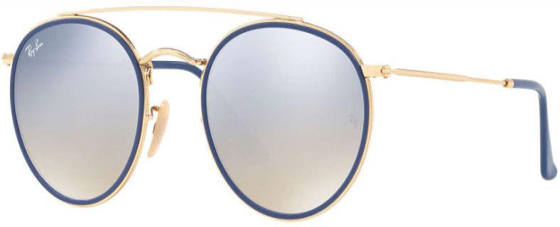 81c28b12cdc7d Ray-Ban Round Double Bridge Gold Unisex Sunglasses - RB3647N 001 9U 51
