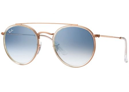 a13ee44d4d Ray-Ban Round Double Bridge Gradient Blue Unisex Sunglasses - RB3647N  90683F 51