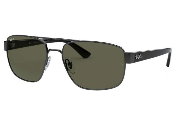 Large image of Ray-Ban RB3663 Gunmetal Grey Green Classic G-15 Polarized Mens Sunglasses - RB36630045860